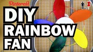 Download DIY Rainbow Fan - Man Vs Pin - Pinterest Test #63 Video
