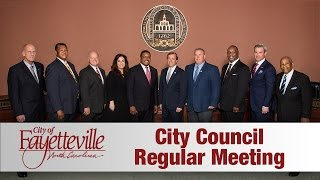 Download Fayetteville City Council Meeting - October 10, 2016 Video