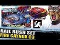 Download 🔥RAIL RUSH SET + QR CODE FIRE CAYNOX C3 + COLLAB C/ ZANKYE! BEYBLADE BURST NEWS Video