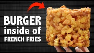 Download CHEESEBURGER 🍔 INSIDE OF 🍟 FRENCH FRIES Video