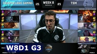 Download CLG vs TSM | Week 8 Day 1 S8 NA LCS Summer 2018 | TSM vs CLG W8D1 Video