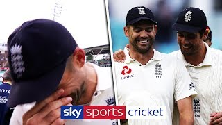 Download Jimmy Anderson struggles to hold back his tears over Cook retirement Video