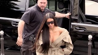Download EXCLUSIVE: Kim Kardashian, Kendall Jenner, Kris Jenner at the Avenue restaurant in Paris Video