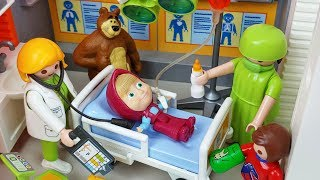 Download Masha and Bear PlayMobil doctor and Hospital toys Ambulance car play - 토이몽 Video