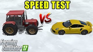 Download Farming Simulator 17 | TRACTOR vs PORSCHE : Speed Comparison Test Video
