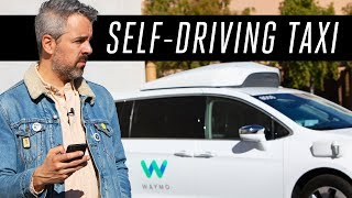 Download Riding a Waymo self-driving taxi Video