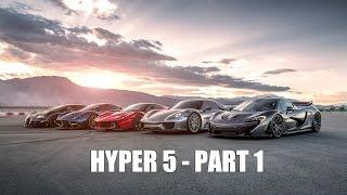 Download HYPER 5 - LaFerrari vs Porsche 918 vs McLaren P1 vs Bugatti Super Sport vs Pagani Huayra - PART 1 Video