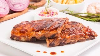 Download Costilla de cerdo en BBQ al horno Video
