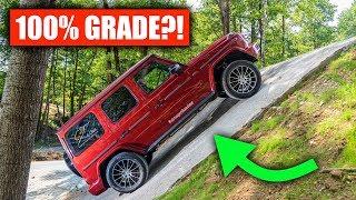 Download Can A Mercedes G-Wagon Actually Climb A 100% Grade? Video