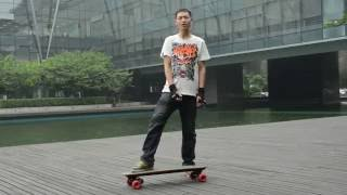 Download How to ride 1800W remote control electric skateboard Video