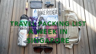Download Travel Packing List - One week in singapore Video