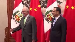 Download Encuentro con el Primer Ministro chino, Li Keqiang, se desarrolló en el Gran Palacio del Pueblo Video