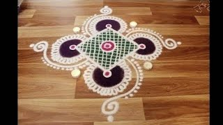 Download Simple, Easy and Quick Rangoli designs with colours Video