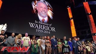 Download A tribute to the memory of The Ultimate Warrior: Raw, April 14, 2014 Video