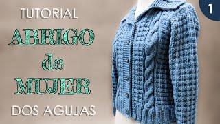 Download DIY abrigo, saco de mujer a dos agujas (1 de 3) Video