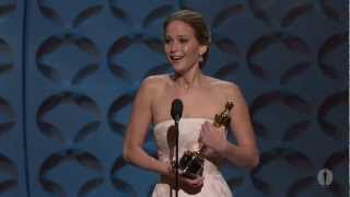 Download Jennifer Lawrence Wins Best Actress: 2013 Oscars Video