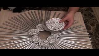 Download Drinking Straw and Foil Decorative Wall Art - Video Clip #2 Video