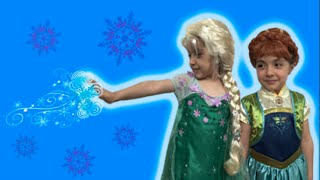 Download Anna's Birthday Party! Elsa and Anna Play With Special Lego Sets - Princesses In Real Life Video