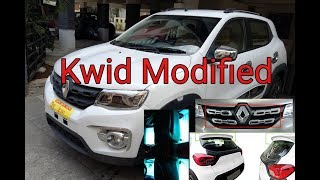 Download Kwid RXT modified (spoiler, floor light, Chrome) with Price Video