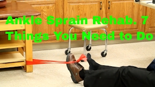 Download Ankle Sprain Rehab: 7 Things You Need To Do- Stretches, Exercises, & Massage Video