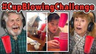 Download ELDERS REACT TO CUP BLOWING CHALLENGE (#CupBlowingChallenge) Video