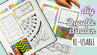 Download DIY Re-Usable Doodle Binder | Weird Back to School Supplies Video