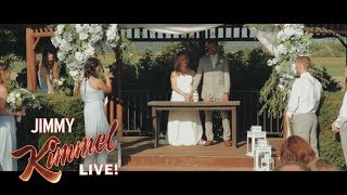 Download Jimmy Kimmel Talks to Best Man Who Fainted in Viral Wedding Video Video