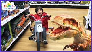 Download TOYS HUNT at Toys R Us Ryan ToysReview! Giant Life Size Dinosaur kids toy store! Family Fun Trip Video