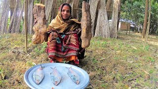 Download 99.99% People Never Seen This Vegetables!!! Mati Alu & Ilish Fish Curry Cooking For Village Kids Video