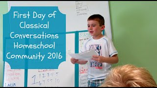 Download First Day of Classical Conversations Homeschool Community 2016 Video
