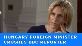Download Hungarian Foreign Minister DEMOLISHES triggered BBC reporter calling for open borders in Europe Video