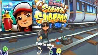 Download Subway Surfers Atlanta Jake Dark Outfit Fullscreen Gameplay HD Video