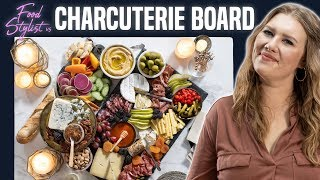 Download Food Stylist Shows How to Make A Beautiful Charcuterie Board | Meat and Cheese Board for New Year's Video