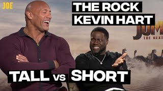 Download Dwayne Johnson (The Rock) and Kevin Hart: Tall people vs short people Video