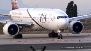 Download [FULL HD] PIA 777-200ER [AP-BHX] Nature's Orchard SUPER CLOSE-UP Take-off Barcelona-El Prat RW25L Video