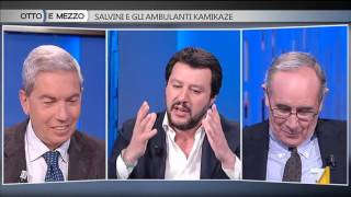 Download Otto e mezzo - Salvini e gli ambulanti Kamikaze (Puntata 19/04/2016) Video