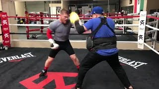 Download CANELO TRAINING LIKE A MONSTER RELEASES DEADLY COMBINATION PUNCHES IN GENNADY GOLOVKIN CAMP Video