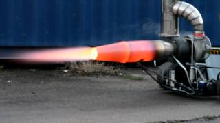 Download Jet engine afterburner test with DIY Gasturbine Video