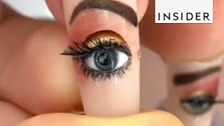 Download Detailed Nail Art Comes To Life Video