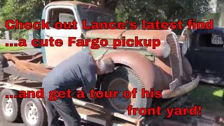 Download Lance hunts down and drags back a Fargo pickup truck. Video