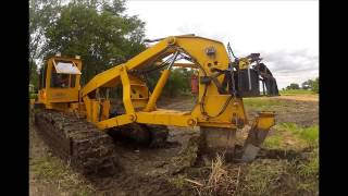 Download Kreuziger Drainage Interdrain 2030 GP Tile Plow Farm Drainage Tiling Dodge County, Wisconsin 8-12-14 Video