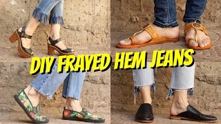 Download DIY || FRAYED HEM JEANS || 4 WAYS!!!👖 Video