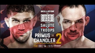 Download Michael Chandler vs Brent Primus 2 for the Lightweight World Championship tonight at 6 pm pacific! Video