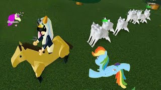 Download Chased by Wolves + Flying My Little Pony Rainbow Dash - Let's Play Online Roblox Games Video