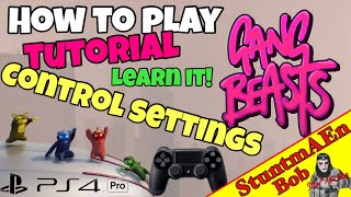 Download CONTROL SETTINGS PRESENTATION - Let's play GANG BEASTS on PS4 - Part #003 how to play / how to fight Video