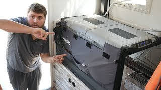 Download THE EASY WAY TO INSTALL A DOMETIC COOL FREEZE FRIDGE FREEZER in a Truck Camper Video