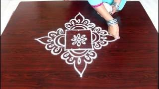 Download beginners kolam designs with 3x3 dots- muggulu designs for beginners- easy rangoli designs with dots Video
