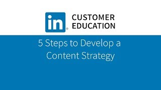 Download 5 Steps to Develop a Content Strategy Video