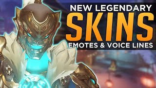 Download Overwatch: All NEW Legendary SKINS, Emotes & Voice Lines! Video