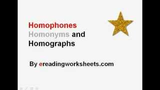 Download Homophones, Homonyms, and Homographs | Common Core Reading Instruction Video Video